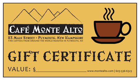 cafe-monte-alto-gift-certificate-plymouth-nh-coffee-shop